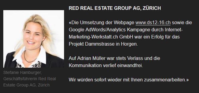 Kunde der Internet-Marketing-Werkstatt.ch - Red Real Estate Group AG